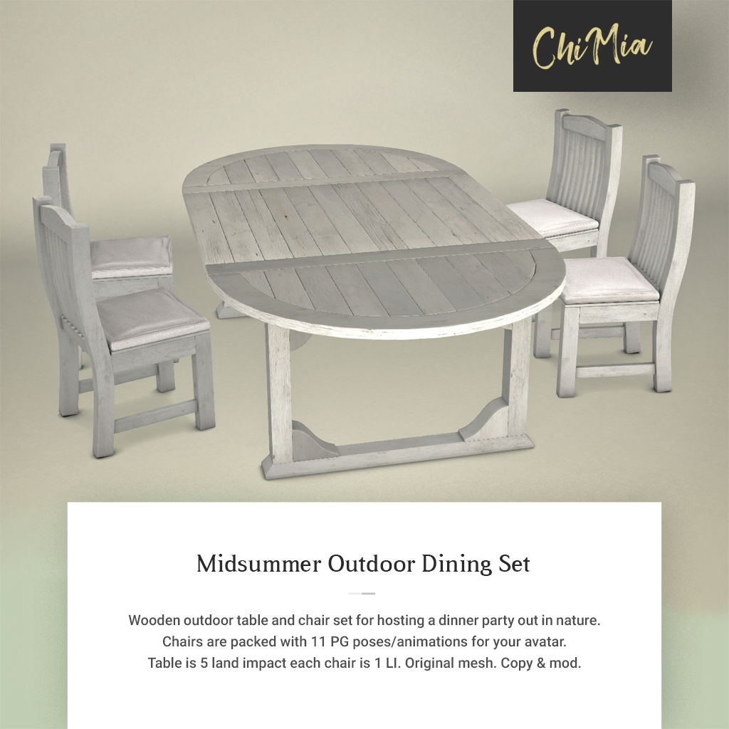 Midsummer Outdoor Dining Set PIC